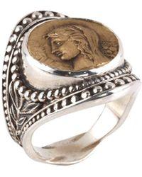 Konstantino Kerma Silver Ring - Metallic