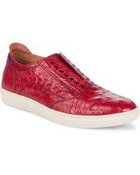 Mezlan - Grommet Detail Leather Casual Shoes - Lyst