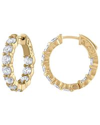 Diana M. Jewels - . Fine Jewelry 18k 4.10 Ct. Tw. Diamond Hoop Earrings - Lyst
