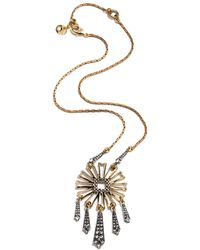 Lulu Frost - Patti Plated Crystal Necklace - Lyst