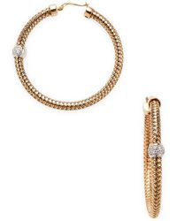Roberto Coin - Primavera Hoop Earrings - Lyst