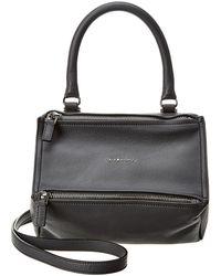 Givenchy Pandora Small Leather Shoulder Bag - Black