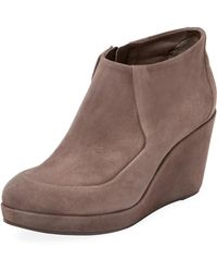 Coclico - Hilda Leather Wedge Bootie - Lyst