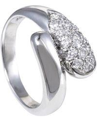 bvlgari vintage womenu0027s 18k white gold u0026 040 total ct diamond bypass ring
