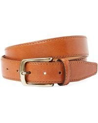 Berge' - Ribbed Leather Belt - Lyst