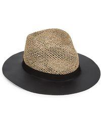 Eugenia Kim - James Leather-trim Straw Hat - Lyst