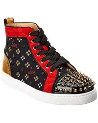 Christian Louboutin - Lou Spikes Orlato High-top Leather Trainer - Lyst