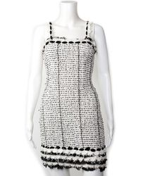Chanel - Spring 2005 Black & White Tweed Cocktail Dress, Size 0 - Lyst