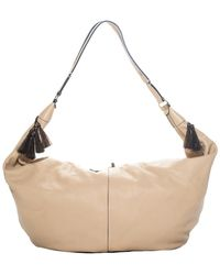 The Row - Beige Leather Sling Hobo Bag - Lyst