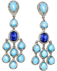 Arthur Marder Fine Jewelry - 14k & Silver 2.50 Ct. Tw. Diamond & Gemstone Earrings - Lyst
