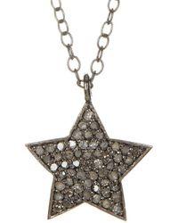 Adornia - Fine Silver 0.40 Ct. Tw. Diamond Shira Star Necklace - Lyst