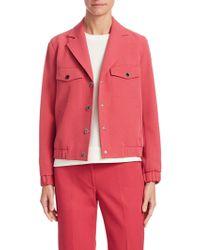 Anne Klein - Snap Button Collared Jacket - Lyst