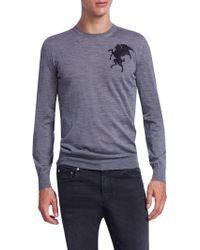 Alexander McQueen   Wool Ribbed Sweater   Lyst