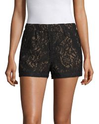 BCBGMAXAZRIA - Lace Shorts - Lyst