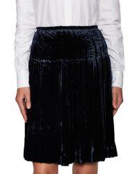 Prada - All Designer Products - Pleated Elastic Flared Skirt - Lyst