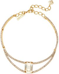 Oscar de la Renta - Octagon Swarovski Crystal Princess Necklace - Lyst