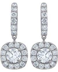 Diana M. Jewels . Fine Jewellery 18k 1.50 Ct. Tw. Diamond Earrings - Metallic