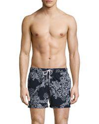 T. Christopher - Mixed Print Nantucket Swim Shorts - Lyst