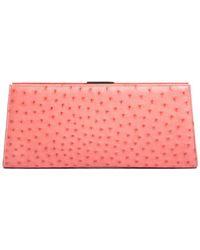 Tiffany & Co. - & Co. Pink Ostrich Small Clutch - Lyst