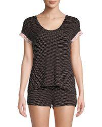Betsey Johnson - Two-piece Lace-trimmed Pyjama Set - Lyst