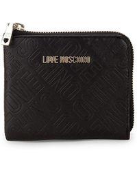 Love Moschino - Embossed Zip-around Wallet - Lyst