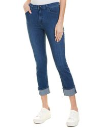 J Brand - Ruby High Rise Cropped Cigarette Jeans - Lyst