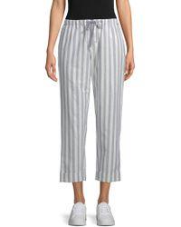 Rebecca Minkoff - Striped Cropped Pants - Lyst