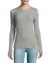 Current/Elliott | The Melange Cut Out Sweater | Lyst