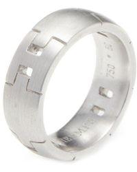Hermès - Vintage Alliance Herakles White Gold Ring - Lyst