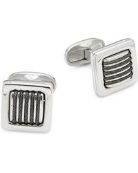 Alor - Two-toned Cable Stainless Steel Cuff Links - Lyst