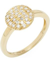 Dana Rebecca - Lauren Joy 14k Yellow Gold & 0.16 Total Ct. Diamond Medium Ring - Lyst