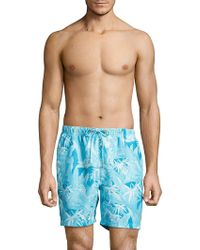 Tommy Bahama - Oasis Tropical Print Swim Trunks - Lyst
