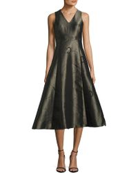 L.K.Bennett - Bianco Embroidered A Line Dress - Lyst