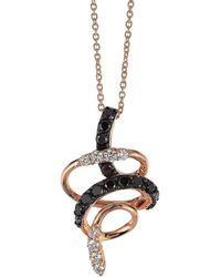 Le Vian - Two-tone Diamonds And Amethyst Spiral Pendant Necklace - Lyst