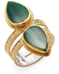 Anna Beck Jewelry - Malachite Double Teardrop Cocktail Ring - Lyst