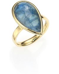 Ippolita - Rock Candy London Blue Topaz, Labradorite & 18k Yellow Gold Doublet Ring - Lyst