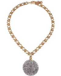 Lulu Frost - Cupola Plated Crystal Necklace - Lyst
