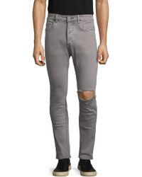 Zanerobe - Joe Blow Distressed Cotton Skinny Jeans - Lyst