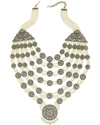 Heidi Daus Crystal, Pearl, & Crystal Necklace - Metallic