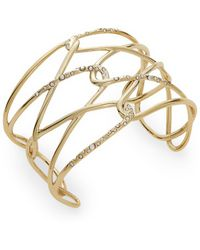 Alexis Bittar - Miss Havisham Liquid Crystal Barbed Cuff Bracelet/goldtone - Lyst