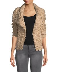 IRO - Caty Stand Collar Wrap Jumper Jacket - Lyst
