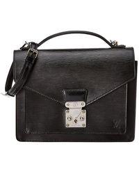 Louis Vuitton - Black Epi Leather Monceau - Lyst