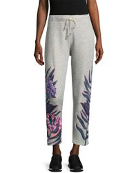 Mara Hoffman - Floral Embroidered Joggers - Lyst
