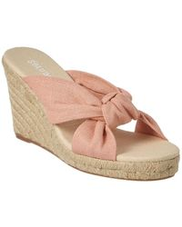 Soludos - Knotted Wedge 90mm (dusty Rose) Wedge Shoes - Lyst