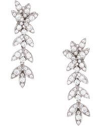 Estate Fine Jewelry - Pave Diamond Drop Earrings - Lyst