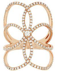 Diana M. Jewels - . Fine Jewelry 18k Rose Gold 0.62 Ct. Tw. Diamond Ring - Lyst