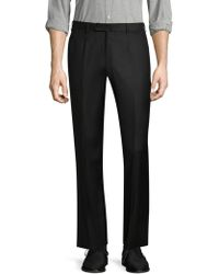 Isaia - Solid Dress Trousers - Lyst