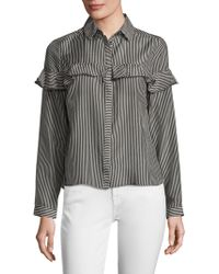 WHIT - Maxine Cotton Striped Top - Lyst