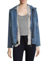 Rebecca Minkoff - Rory Fur Lined Jacket - Lyst