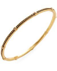 Oscar de la Renta - Goldtone Crystal Bracelet - Lyst
